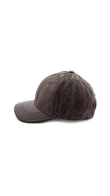 Rag & Bone Suede Baseball Cap