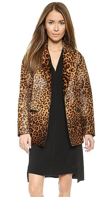 Rag & Bone Sigrid Leopard Haircalf Coat