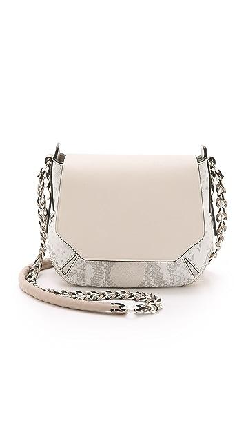 Rag & Bone Python Printed Bradbury Mini Chain Hobo Bag