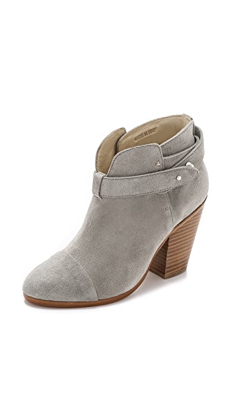 RAG & BONE Harrow Leather Ankle Boot, Light Gray at Shopbop