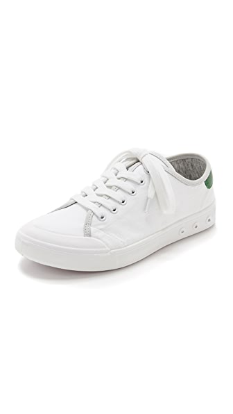 Rag & Bone Standard Issue Lace Up Sneakers - White/Green