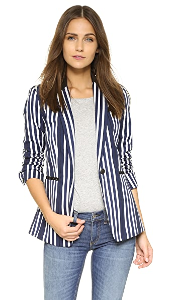 Rag & Bone Windsor Blazer - Navy/White