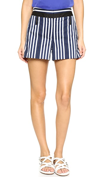 Rag & Bone Willow Shorts - Navy/White