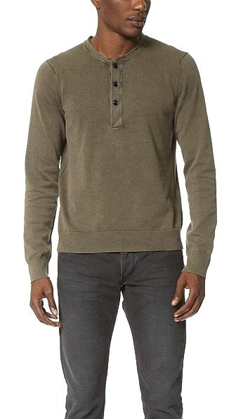 Rag & Bone Standard Issue Standard Issue Henley Sweater