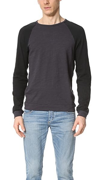 Rag & Bone Standard Issue Long Sleeve Colorblock Raglan Tee