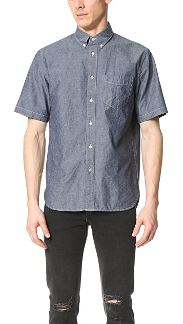 Rag & Bone Standard Issue Short Sleeve Standard Issue Chambray Shirt