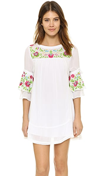 RahiCali Embroidered Mini Dress