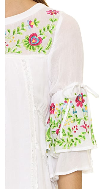 RahiCali Embroidered Mini Dress