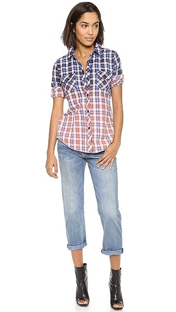 RAILS Bleach Dip Flannel Button Down