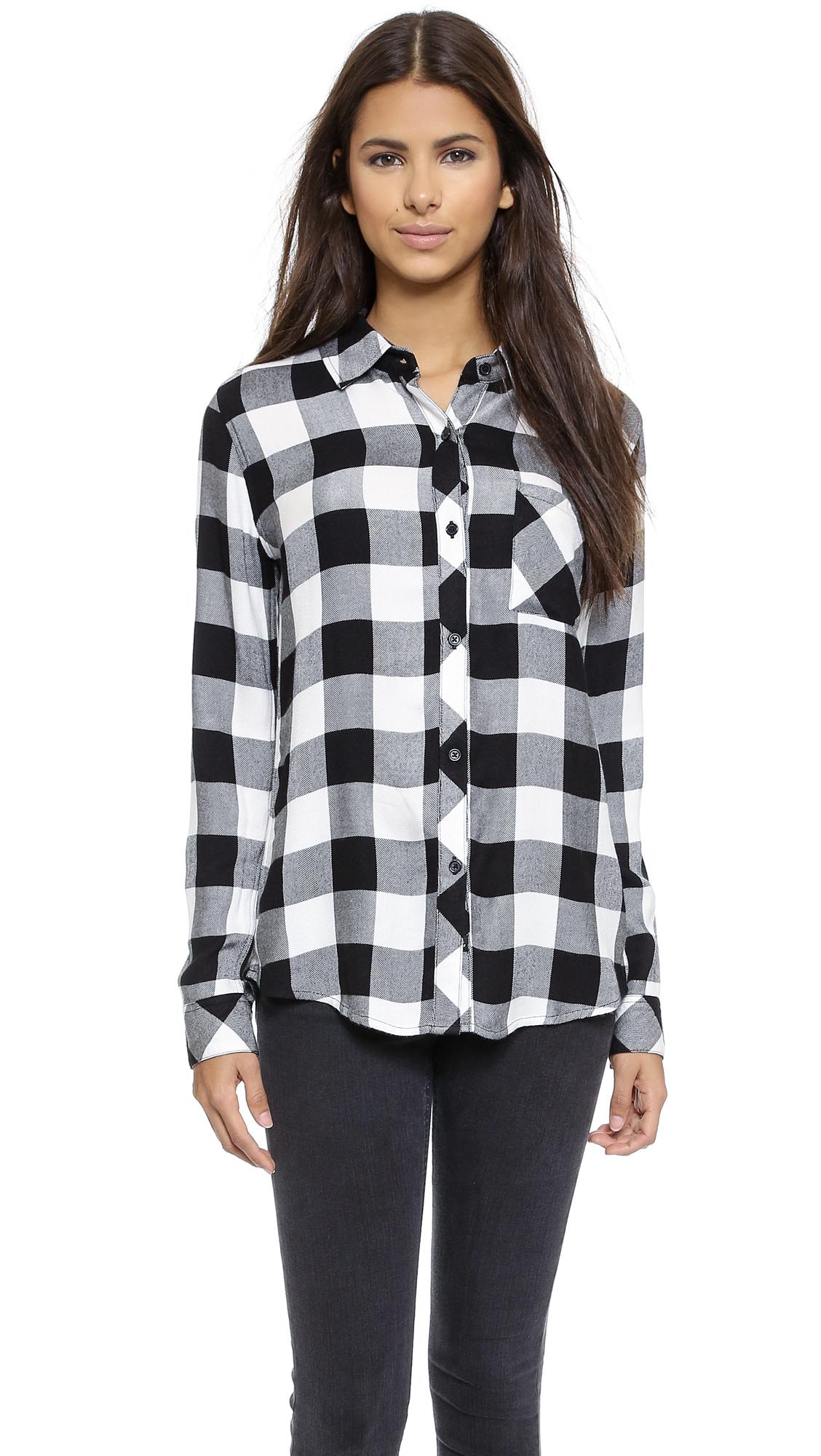 Black And Grey Checked Shirt Womens Azərbaycan Dillər Universiteti