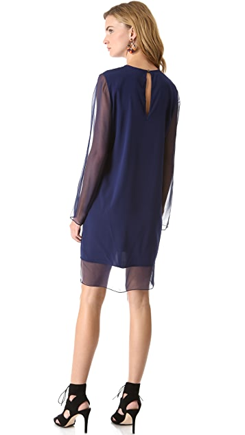 Ramy Brook Helen Chiffon Keyhole Dress