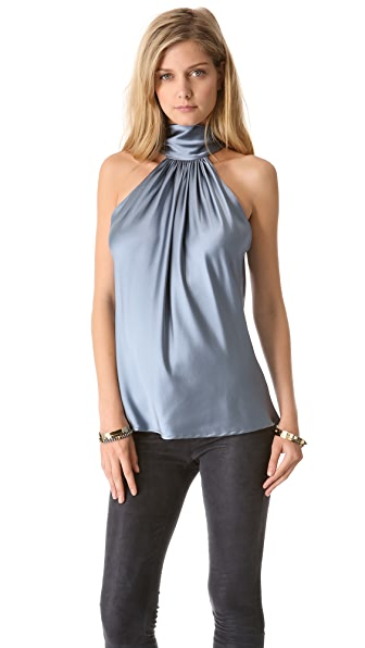 Ramy Brook Paige Reversible Tie Halter Blouse