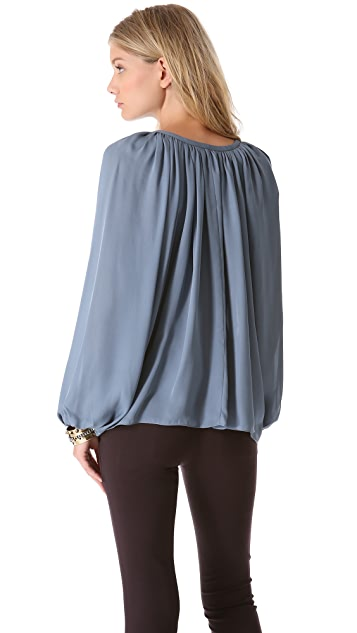 Ramy Brook Paris V Neck Blouse