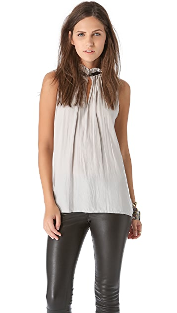 Ramy Brook Dakota Pleated Collar Top