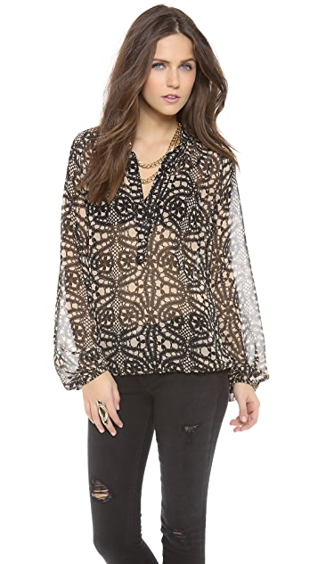 Ramy Brook Elise Shirred Blouse
