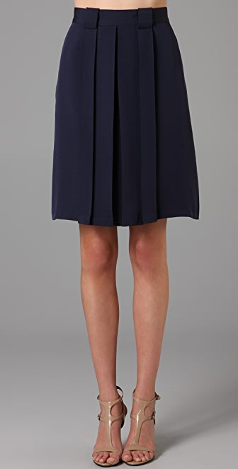 Raoul Box Pleated Skirt