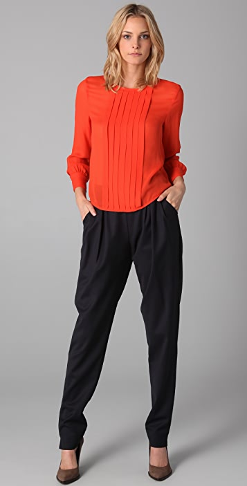 Raoul Pleated Rider Pants