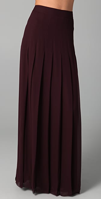 Raoul Long Pleated Skirt