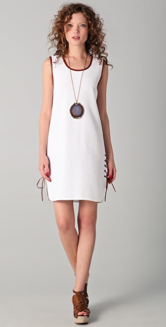 Raoul Laced Up Hem Dress