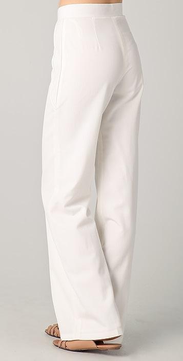 Raoul Leather Paneled Pants