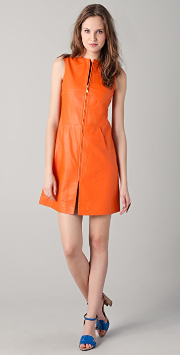 Raoul Zip Up Leather Dress