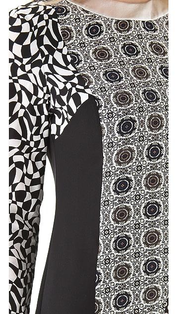 Raoul Paneled Metallic Shift Dress