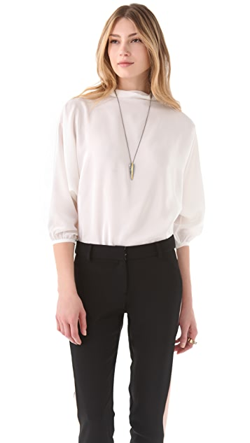 Raoul Isadora Tie Black Blouse