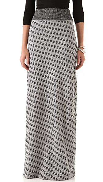 Raoul Diamond Knit Maxi Skirt