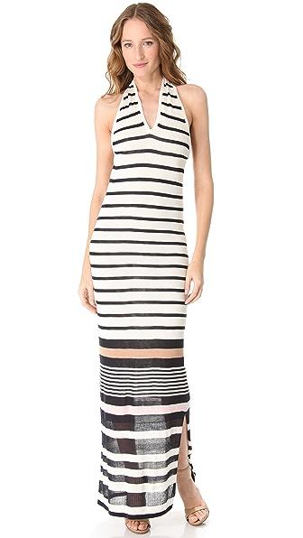 Raoul Stripe Halter Dress