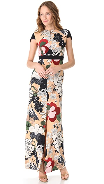Raoul Cap Sleeve Maxi Dress