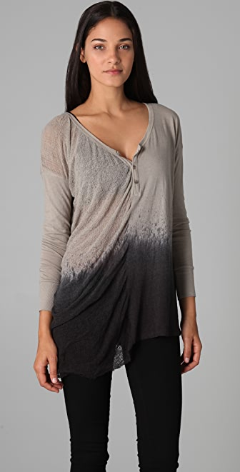 Raquel Allegra Long Sleeve Henley