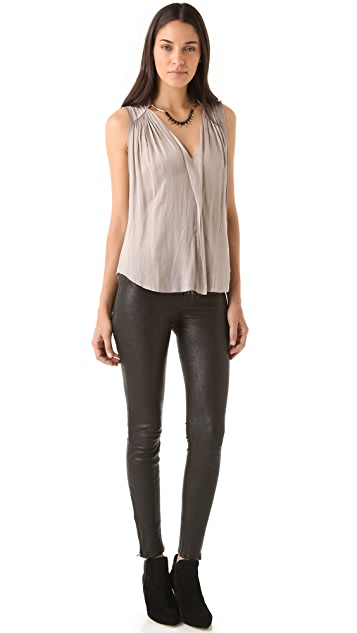 Raquel Allegra Liquid Satin Sleeveless Top