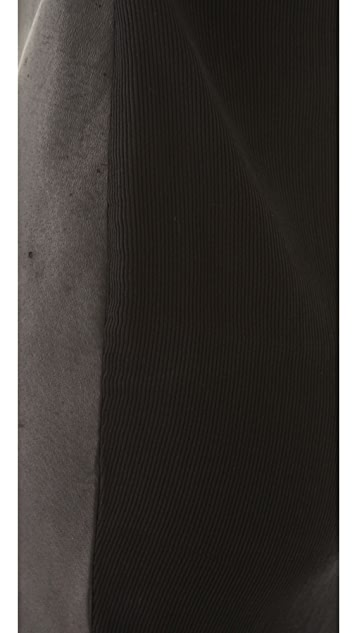 Raquel Allegra Heavy Rib Dress with Leather Panel
