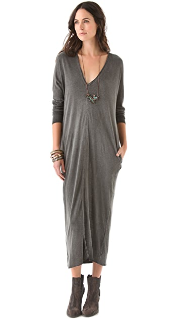 Raquel Allegra V Neck Dress