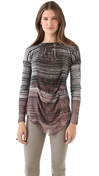Raquel Allegra Shredded Long Sleeve Tee