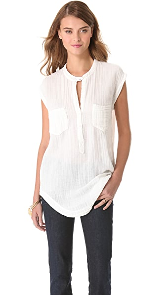 Raquel Allegra Sleeveless Patch Pocket Top
