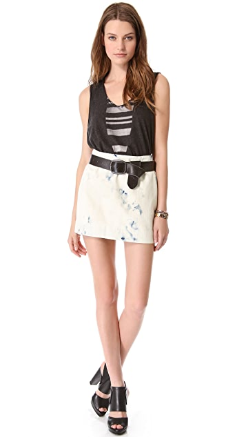 Raquel Allegra Washed Denim Skirt