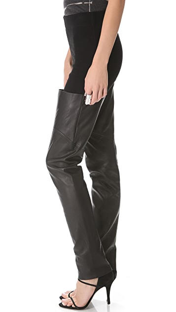 Raquel Allegra Leather Trim Boot Leggings