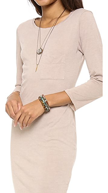 Raquel Allegra 3/4 Sleeve Fitted Dress