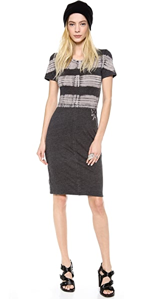 Raquel Allegra Short Sleeve Jersey Dress