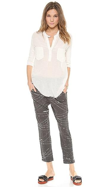 Raquel Allegra Short Sleeve Patch Pocket Shirt