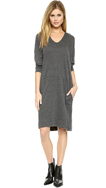 Raquel Allegra Sheer Combo Raglan Dress