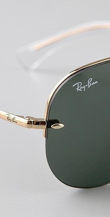 Ray-Ban Semi-Rimless Aviator Sunglasses