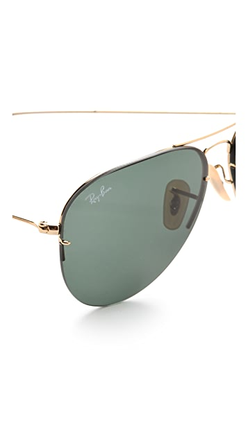 Ray-Ban Light Ray Aviator Flip Out Sunglasses