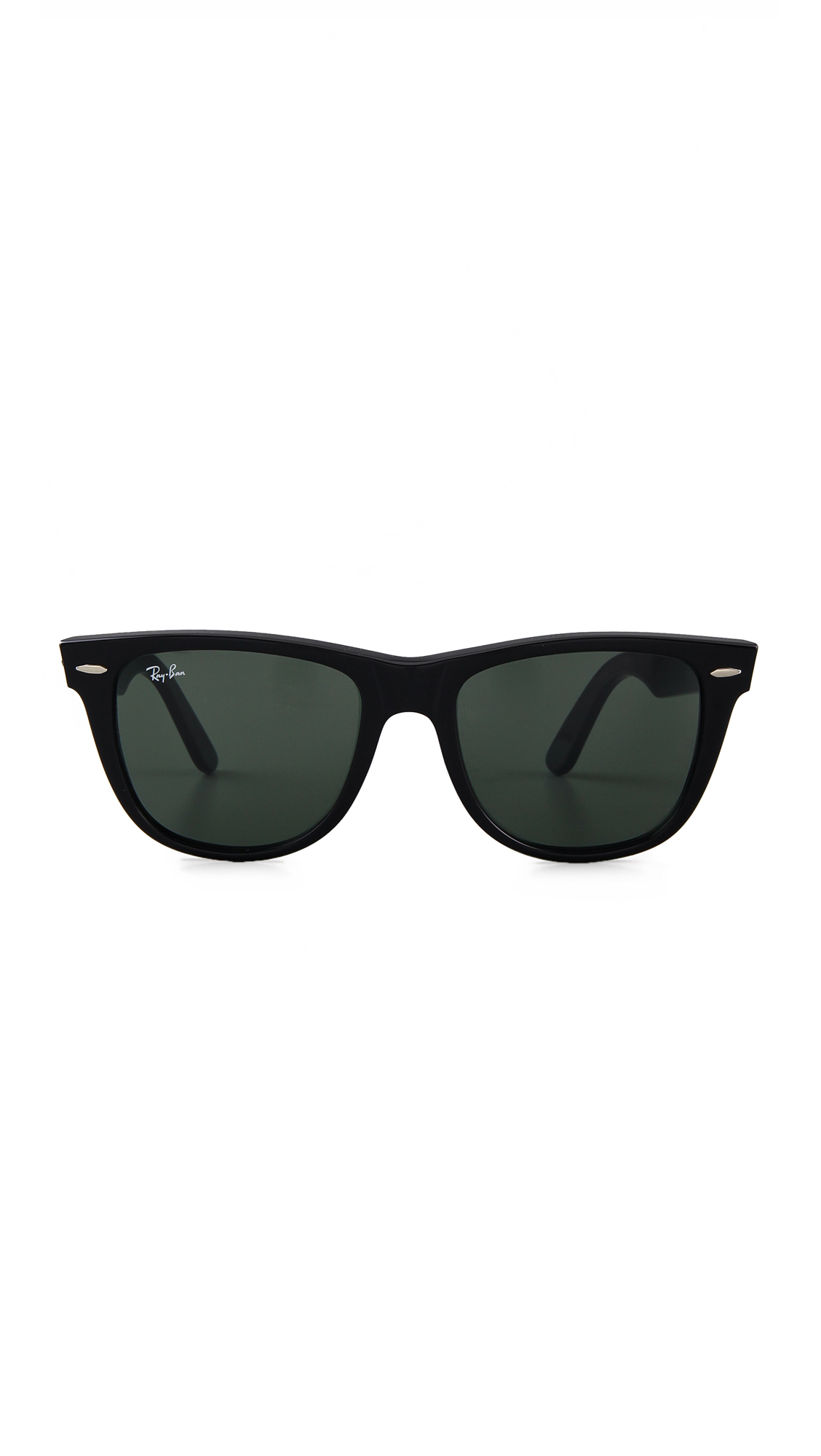 black wayfarer glasses  Ray-Ban Outsiders Oversized Wayfarer Sunglasses