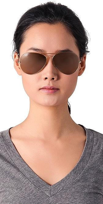 small ray ban aviator  Ray-Ban Oversized Original Aviator Sunglasses