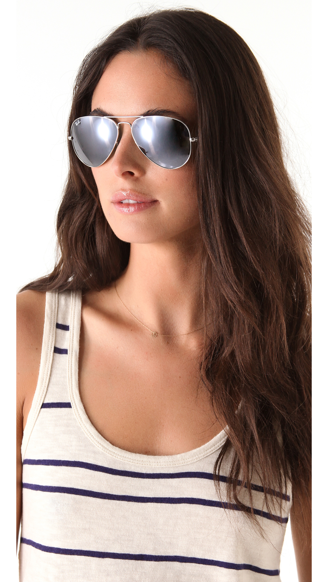 Ray Ban Silver Mirror Aviator