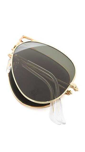 Ray-Ban Foldable Aviator Sunglasses