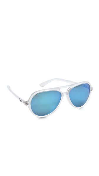 Ray-Ban Mirrored Cats 5000 Aviator Sunglasses