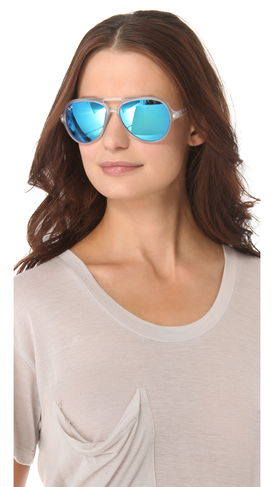 08ab67efe Ray-Ban Mirrored Cats 5000 Aviator Sunglasses | SHOPBOP